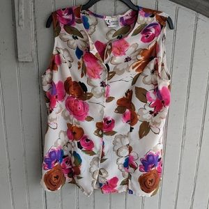 Vintage button down blouse
